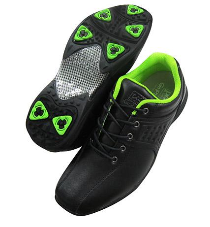 高爾夫兩用鞋(黑配綠裡)