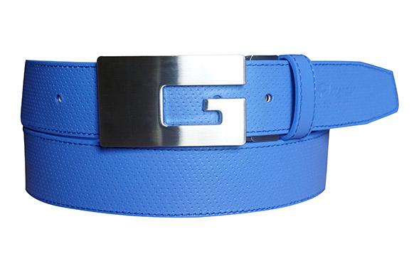 35mm全藍細點皮帶(G帶頭)