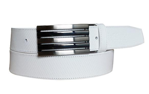 35mm全白細點皮帶(五條帶頭)