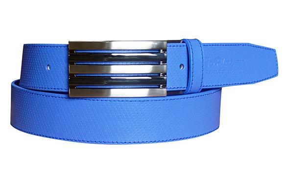 35mm全藍細點皮帶(五條帶頭)